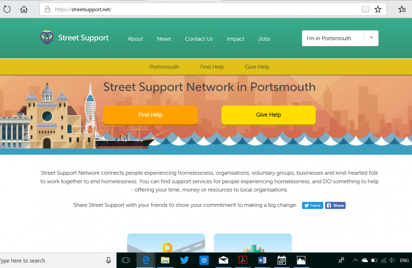 Portsmouth Street Support website