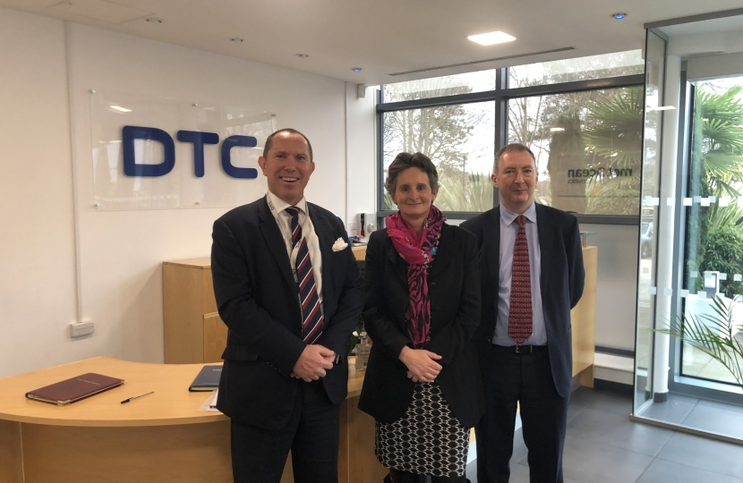 Flick Drummond visits Domo-Tactical Communications (DTC)